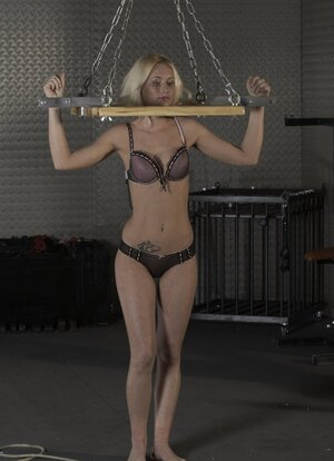 Master dominates over innocent blonde and also even allows to taste his prick