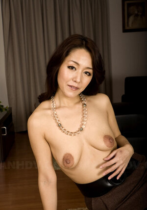 Japanese stripped with no shame exposing saggy jugs with large brown nipples