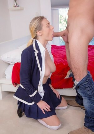 Private guitar teacher invited by his boobalicious student to visit her bedroom