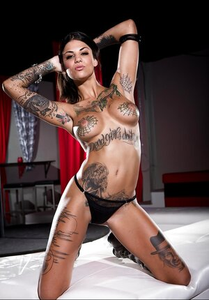 Dames have tattoos and additionally strip on camera vying with each other to be the sexiest
