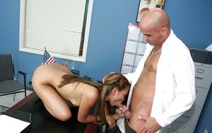 Pretty Asiatic broad loves asshole being licked by teacher and gives bj him