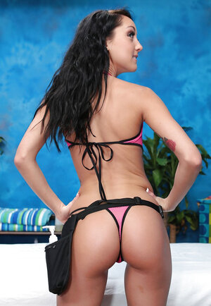 Brunette broad named Afrodity needs a job so much that she is ready to strip